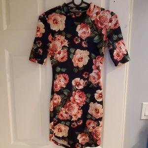 Floral Mock Mini Dress